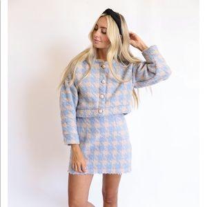 Gingham Skirt and Coat Set